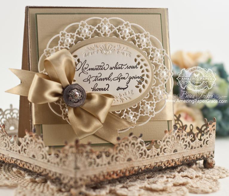 Card Making Ideas by Becca Feeken using Spellbinders Majestic Oval - www.amazingpapergrace.com