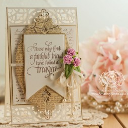 Friendship Card Making Ideas by Becca Feeken using Spellbinders Victorian Bow - www.amazingpapergrace.com