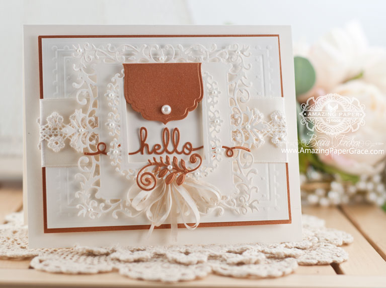 Card Making Ideas by Becca Feeken using Spellbinders Label and Accent along with Spellbinders Floral Assortment - www.amazingpapergrace.com