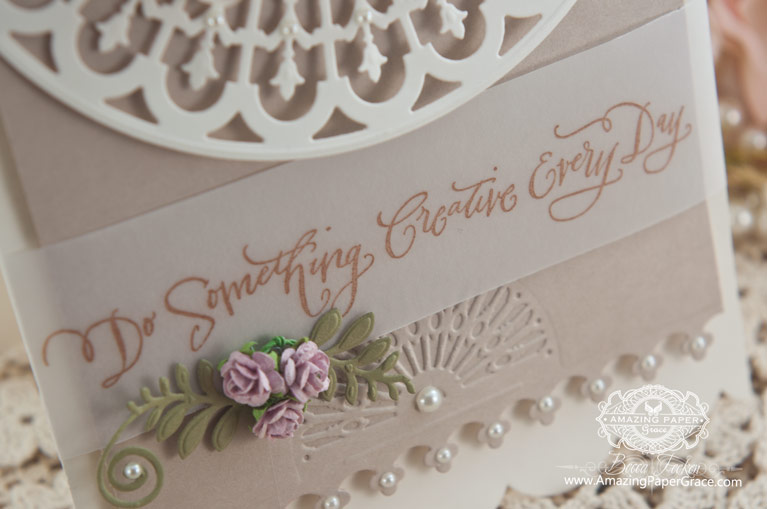 Cardmaking Ideas by Becca Feeken using Spellbinders Victorian Arch (close up) - www.amazingpapergrace.com