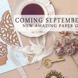 Introducing Cascading Grace coming in September 2015 - a new Spellbinders die by Licensed Designer Becca Feeken for www.amazingpapergrace.com
