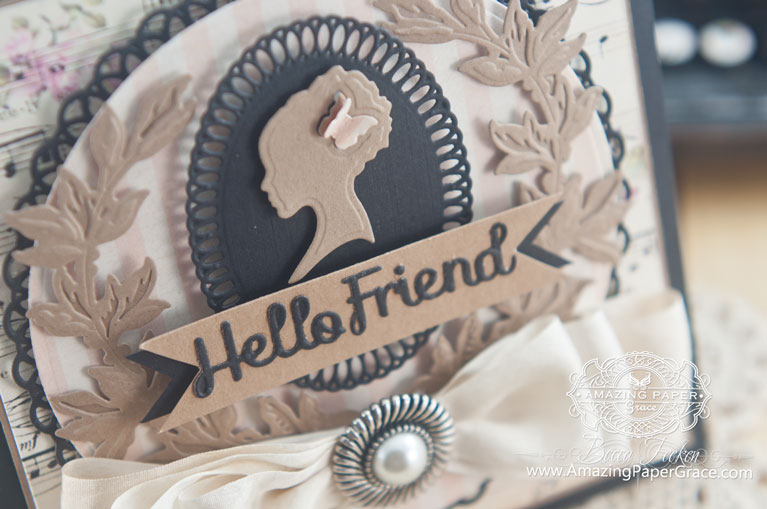 Friendship Card Making Ideas by Becca Feeken using Spellbinders Silhouette - www.amazingpapergrace.com