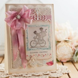 Friendship card making ideas by Becca Feeken using Spellbinders Imperial Square and Spellbinders Victorian Bow Corner - www.amazingpapergrace.com