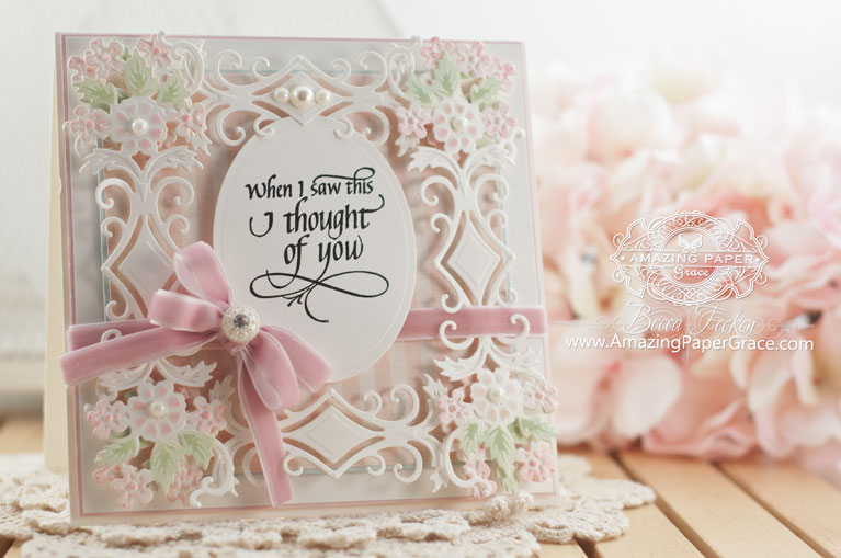 Card making ideas by Becca Feeken using Quietfire Design - When I Saw This and Spellbinders Diamond Floral - www.amazingpapergrace.com