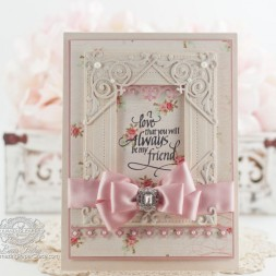 Friendship Card Making Ideas by Becca Feeken using Spellbinders Pierced Rectangles, Spellbinders Imperial Square, Spellbinders Victorian Arch, Spellbinders Gilded Gate Two, Quietfire Design - Always Be My Friend - www.amazingpapergrace.com