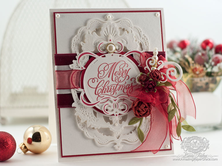 Christmas Card Making Ideas by Becca Feeken using Spellbinders Gold Majesty Circles, Spellbinders Standard Circles SM, Spellbinders Gold Labels Four, Spellbinders Jewel Flowers and Flourishes, Spellbinders Twisted Metal Tags and Accents - www.amazingpapergrace.com
