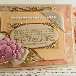 Thanksgiving Card Making Ideas by Becca Feeken using Spellbinders Leaves, Spellbinders Radiant Rectangles, Spellbinders Cinch and Go Flowers, Spellbinders Pierced Rectangles, Spellbinders Captivating Squares - www.amazingpapergrace.com