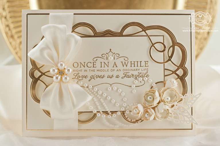 Elegant Card Making Ideas by Becca Feeken using Spellbinders S5-267 Swirling Grace - www.amazingpapergrace.com