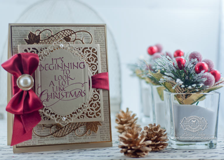 Christmas Card Making Ideas by Becca Feeken using Quietifire Design - It