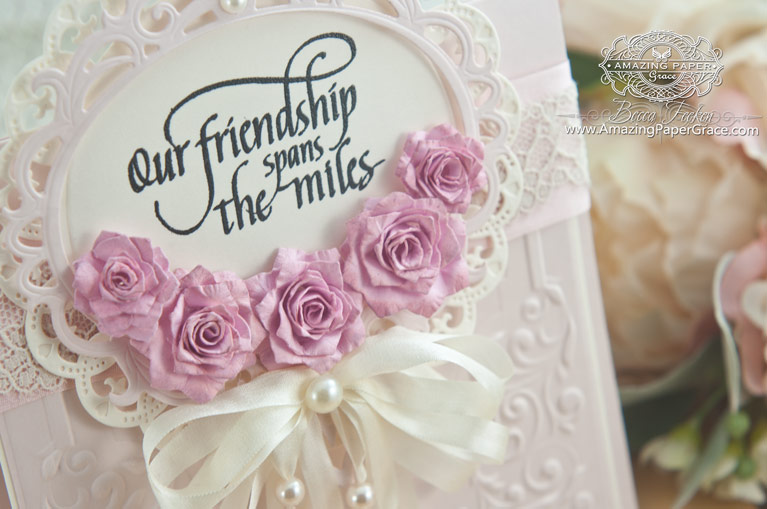 Friendship Card Making Ideas by Becca Feeken using Quietfire Design - In a Perfect Work and Spellbinders Pinecones, Spellbinders Royal Circle, Spellbinders Majestic Oval - www.amazingpapergrace.com