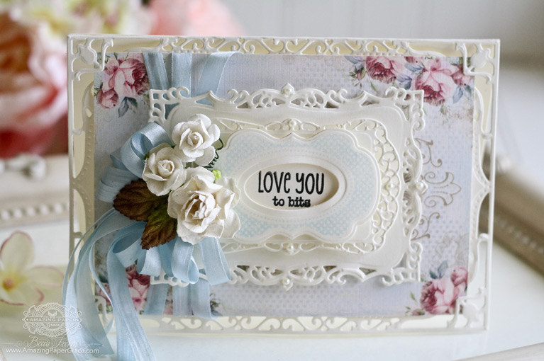 Card Making Ideas by Becca Feeken using Spellbinders 5 x 7 Elegant Labels Four, Spellbinders Decorative Labels Eight, Spellbinders Timeless Rectangles and Spellbinders Labels Fourteen - www.amazingpapergrace.com