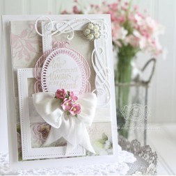 Friendship Card Making Ideas by Becca Feeken using Quietfire Design (Always Be My Friend) and Spellbinders Fleur de Elegance, Spellbinders Elegant Ovals, Spellbinders Pierced Rectangles, Spellbinders Cinch and Go Flowers - www.amazingpapergrace.com