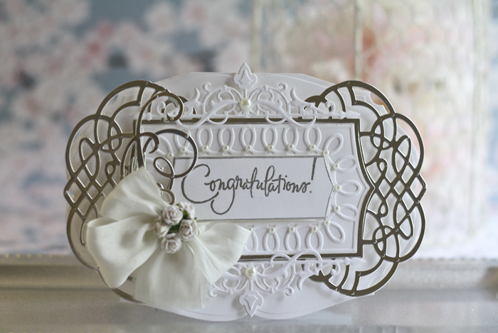 Card Making Ideas by Becca Feeken using Spellbinders Ornamental Crest, Spellbinders Classic Elegance Label, Spellbinders Regal Allure - full supply list and instructions at www.amazingpapergrace.com/blog