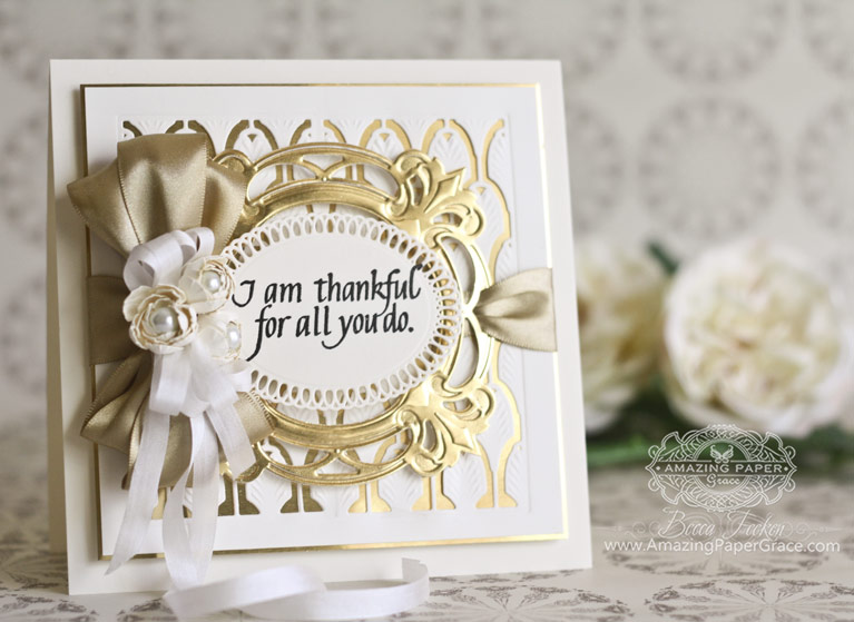 Thank You Card Making Ideas by Becca Feeken using Quietfire Design - I Don