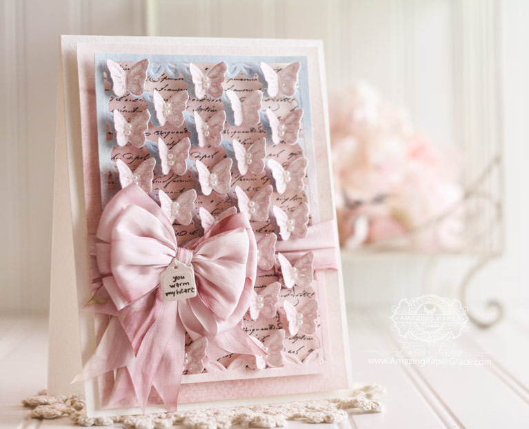 Cardmaking ideas by Becca Feeken using Spellbinders Butterflies - see full supply list at www.amazingpapergrace.com/blog