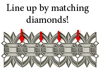 How to match up Spellbinders Arched Diamond Border