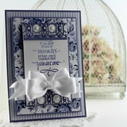 Card Making Ideas by Becca Feeken using Quietfire Design - If You Don't Believe in Miracles and Spellbinders Deco Lux - www.amazingpapergrace.com
