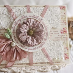 Card Making Ideas by Becca Feeken using Spellbinders Standard Circles LG, Spellbinders Floral Embossing Folder, Spellbinders A2 Bracket Borders One - full supply list at www.amazingpapergrace.com