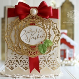 Christmas Card Ideas by Becca Feeken using Spellbinders Holiday Botanical Strip, Spellbinders Majestic Labels Twenty Five, Spellbinders Majestic Labels One, Spellbinders Labels One, Spellbinders Classic Ovals LG, Spellbinders Classic Ovals SM and Quietfire Design - Bright Holiday Words - see fully supply list at www.amazingpapergrace.com
