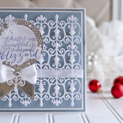 Card Making Ideas by Becca Feeken using Quietfire Design - If Kisses Were Snowflakes and Spellbinders Fabulous Fretwork, Spellbinders Blooming Collection, Spellbinders Arched Swallowtail Pennants, Spellbinders Create A Flake Six - full supply list at www.amazingpapergrace.com