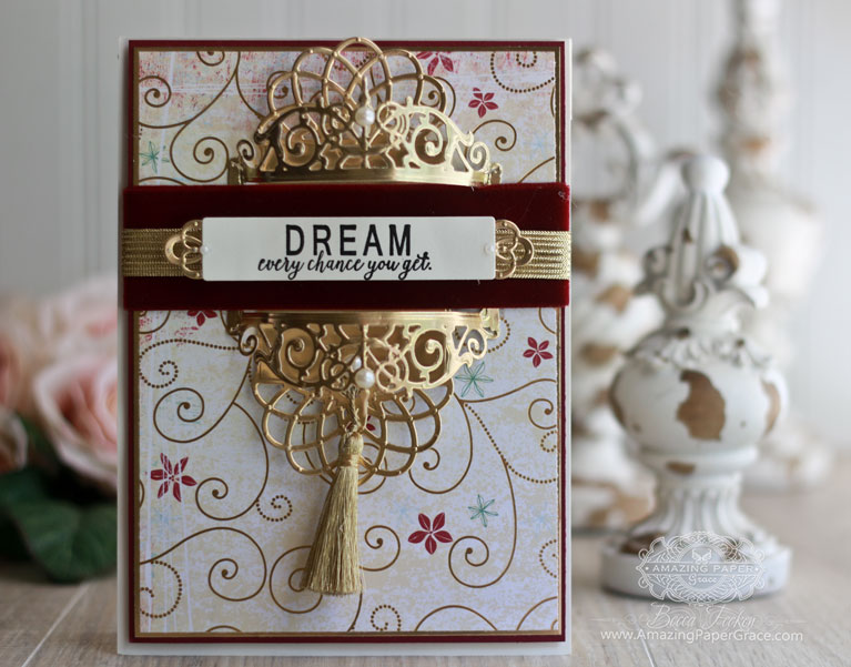 Graduation and Encouragement Card Making Ideas by Becca Feeken using Spellbinders Vintage Elegance Filigree Bookmark/Tag, Spellbinders Vintage Elegance Beautiful Dreamer, Spellbinders Vintage Elegance Graceful Tiny Tags - full supply list and links at www.amazingpapergrace.com