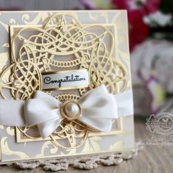 Card Making Ideas by Becca Feeken using Spellbinders S4-733 Braided Grace, Spellbinders SDS-054 Giving Occasions - full supply list at www.amazingpapergrace.com