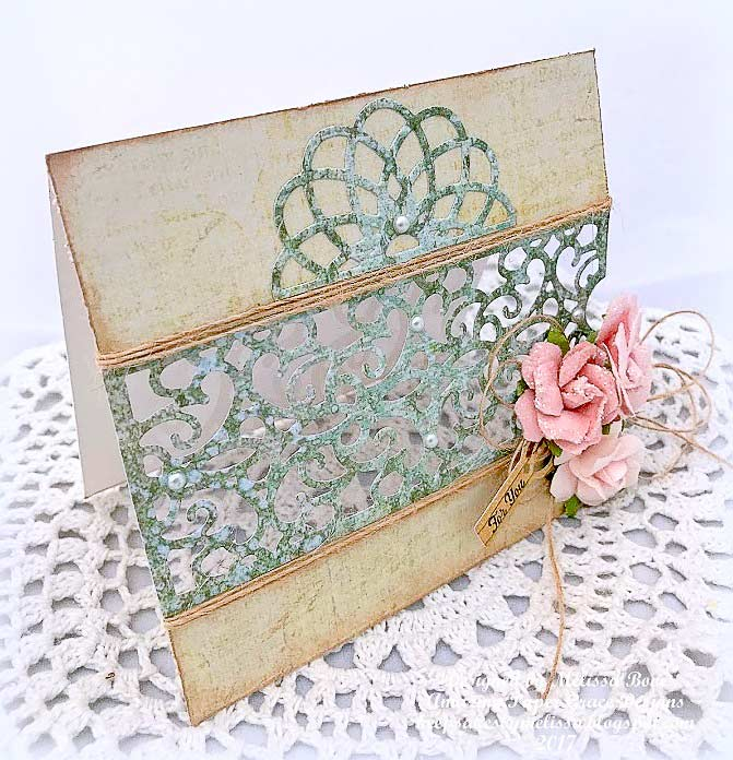 Melissa Bove for Amazing Paper Grace using Spellbinders S4-731 Filigree Bookmark Tag set die and Spellbinders SDS-053 Petite Tags and Stamp Set - www.amazingpapergrace.com