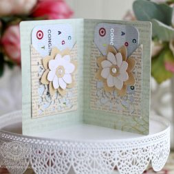 Gift Making Ideas by Becca Feeken using Spellbinders S5-289 Filigree Booklet, Spellbinders S4-730 Filigree Pocket and Spellbinders S3-251 Round Fold and Go Flowers - supply list and links at www.amazingpapergrace.com
