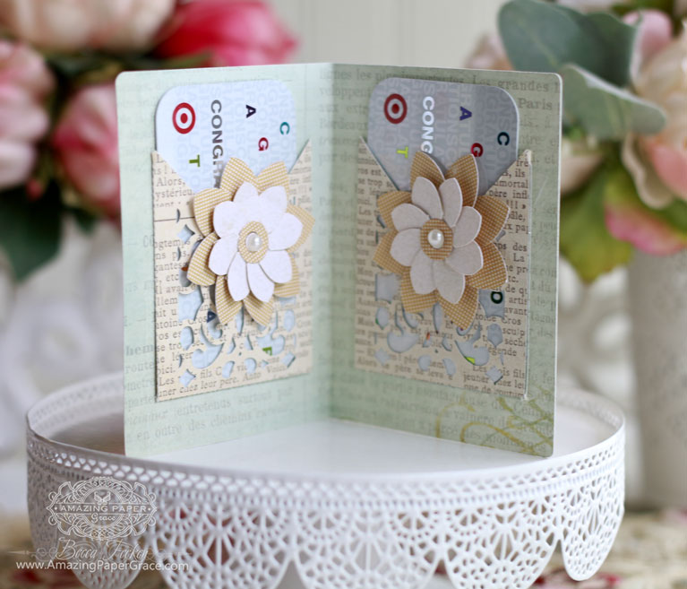 Gift Making Ideas by Becca Feeken using Spellbinders S5-289 Filigree Booklet, Spellbinders S4-730 Filigree Pocket and Spellbinders S3-251 Round Fold and Go Flowers - supply list and links at www.amazingpapergrace.com/blog/?p=32159