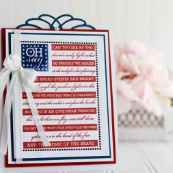 July 4th Card by Becca Feeken using Spellbinders Hemstitch Rectangles and Spellbinders Marcheline Plume - see fully supply list at www.amazingpapergrace.com/blog/?p=32212