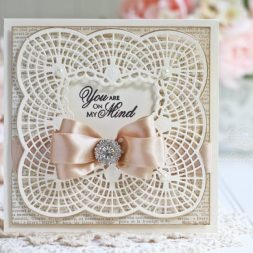 Framed Card Making Ideas by Becca Feeken using Spellbinders Bella Claire Border and Spellbinders Graceful Frame Maker Tool - see full supply list and links at www.amazingpapergrace.com/blog/?p=31111