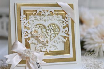 Gift Card Making Ideas by Becca Feeken using Spellbinders Botanical Heart Pair, Spellbinders Pierced Squares and Spellbinders Graceful Tiny Tags and Stamps - full supply list and links at www.amazingpapergrace.com/?p=32581