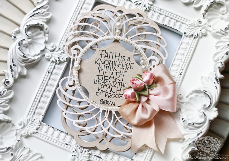 Card Making Ideas by Becca Feeken using Spellbinders Swirling Grace and Spellbinders Marcheline Plume - see full supply list at www.amazingpapergrace.com/?p=32616
