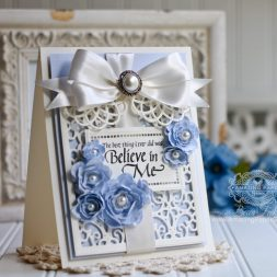 Card Making Ideas by Becca Feeken using Spellbinders Filigree Bookmark, Spellbinders Hemstitch Rectangles, Spellbinders Cinch and Go Flowers - see full supply list at www.amazingpapergrace.com