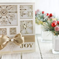 Christmas Card making ideas by Becca Feeken using  Spellbinders Snowflake Snippets and Spellbinders Simply Said Alphabet - see full supply list at www.amazingpapergrace.com/?p=32716