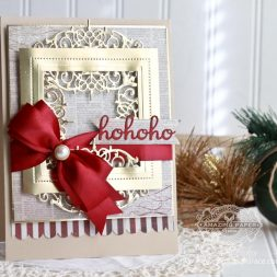 Christmas Card Making Ideas by Becca Feeken using Spellbinders Beautiful Dreamer, Spellbinders Pierced Squares - see full supply list at www.amazingpapergrace.com/?p=32769