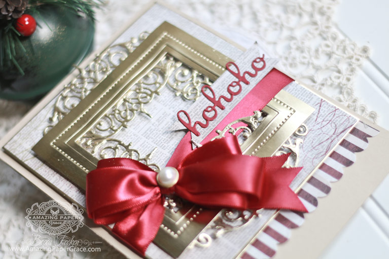 Christmas Card Making Ideas by Becca Feeken using Spellbinders Beautiful Dreamer, Spellbinders Pierced Squares - see full supply list at www.amazingpapergrace.com/?p=32769