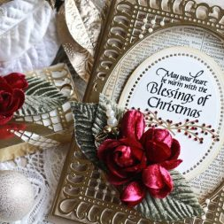 Christmas Card Making Ideas by Becca Feeken using Spellbinders Bella Rose Layering Frame Large and Spellbinders Hemstitch Circles - full supply list at www.amazingpapergrace.com/?p=32837