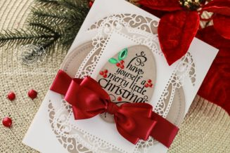 Christmas Card Making Ideas by Becca Feeken using Spellbinders Lunette Arched Borders, Spellbinders Tallulah Frill and Spellbinders Annabelle