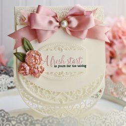 Card Making Ideas by Becca Feeken using Spellbinders Lunette Arched Borders and Spelbinders Tallulah Frill Layering Frame - for full supply list see ww.amazingpapergrace/?p=33306