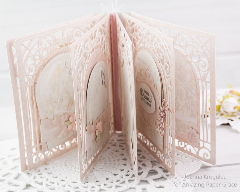 Mini Album Ideas by Joanna Krogulec using Amazing Paper Grace 3D Vignettes by Spellbinders - see full supply list at www.amazingpapergrace.com/?p=33627