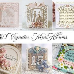 Mini Album Ideas by Becca Feeken and the Amazing Paper Grace Creative Team using Amazing Paper Grace 3D Vignettes by Spellbinders - see full supply list at www.amazingpapergrace.com/?p=33627