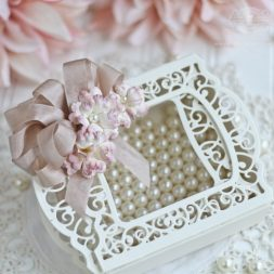 Die Cut Box Ideas by Becca Feeken using Amazing Paper Grace 3D Vignettes by Spellbinders - Grand Cabinet Die Template - see full supply list at www.amazingpapergrace.com/?p=33719