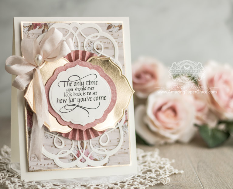 Amazing Paper Grace Post - Amazing News! - - Becca Feeken uses Spellbinders Dies for an Encouragement Card with Curvy Labels, Breanna