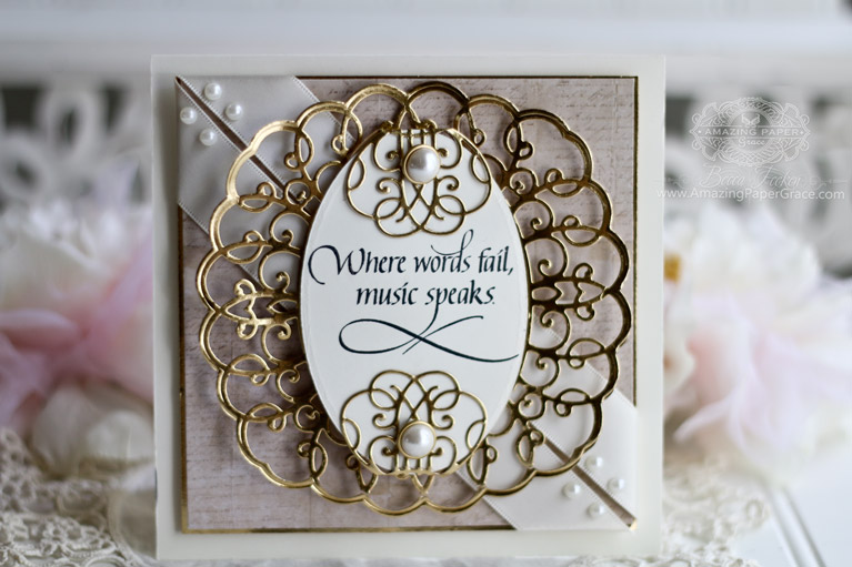 Card Making Ideas by Becca Feeken from the Amazing Paper Grace for Spellbinders Romancing the Swirl Collection - using Ringlet Round and Quietfire Design - see full supply list at www.amazingpapergrace.com/?p=33906 Check out my post called: I