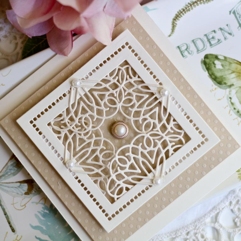 How to Get Beautiful Snippings of Your Dies by Becca Feeken using Spellbinders Ringlet Round - see supply list and video tutorial at www.amazingpapergrace.com/?p=34038