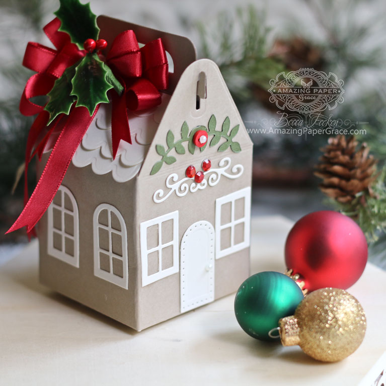 How to Use Charming Christmas Cottage Year-Round by Becca Feeken using Spellbinders Charming Cottage Die - for full supply list see www.amazingpapergrace.com/?p=34216