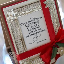 Christmas Card Making Ideas by Becca Feeken using Spellbinders Charming Holiday Words  - see full supply list and giveaway info at www.amazingpapergrace.com/?p=34242