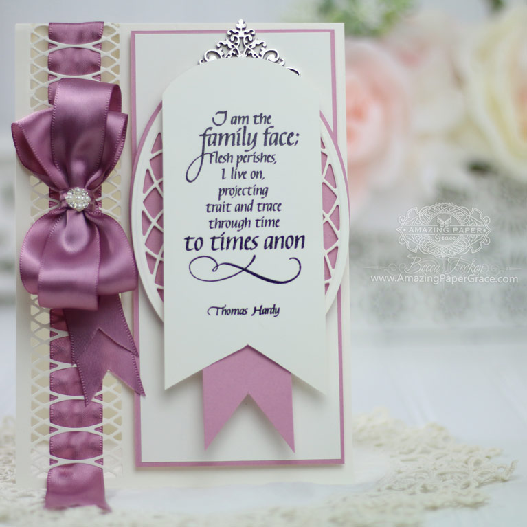 Amazing Paper Grace March 2019 Die of the Month - Spun Blessings Oval Die Set