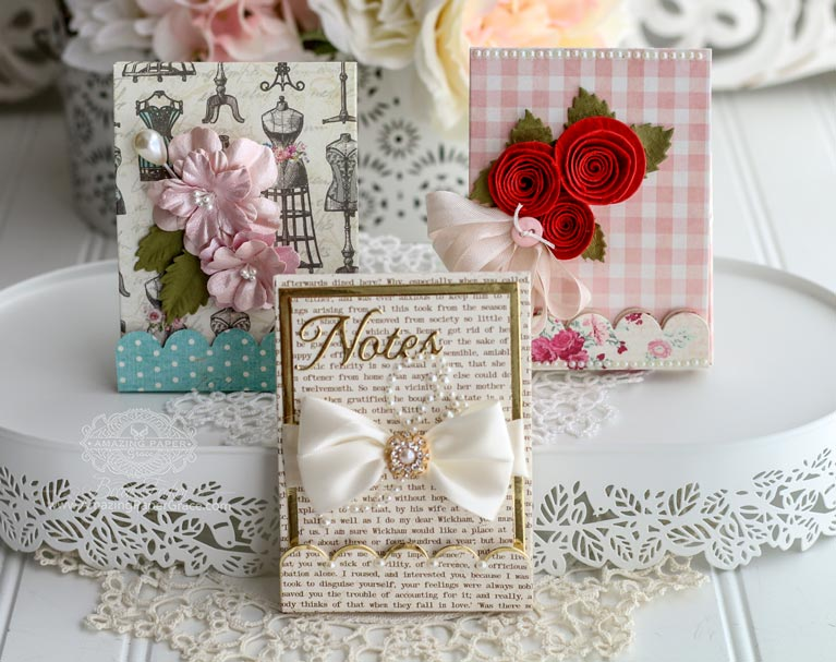 Introducing Amazing Paper Grace Vintage Treasuures designed by Becca Feeken featuring Spellbinders S4-997 Adorned Notepad - more info at www.amazingpapergrace.com/?p=34866